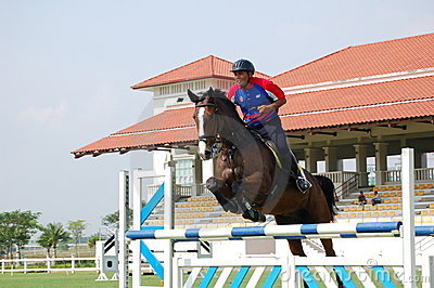 Horse Jumping Editorial Stock Photo