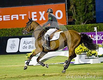 Horse jumping - Eric Lamaze