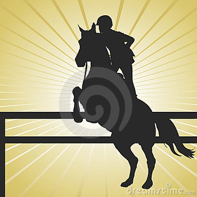 Free Horse Jumping Gold Stock Photography - 6896402