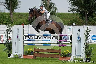 Horse-jumping Grand Prix Bratislava CSIO-W*** 2010 Editorial Photo