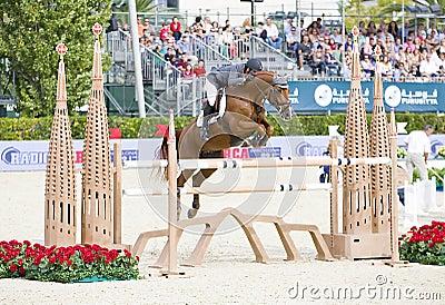 Horse jumping - Julio Arias Editorial Stock Image