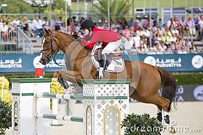 Horse jumping - Katherine Dinan Editorial Image