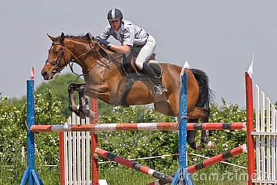 Horse jumping show Editorial Photography