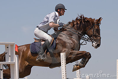 Horse jumping show Editorial Photo