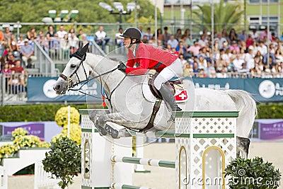 Horse jumping - Steve Guerdat Editorial Image