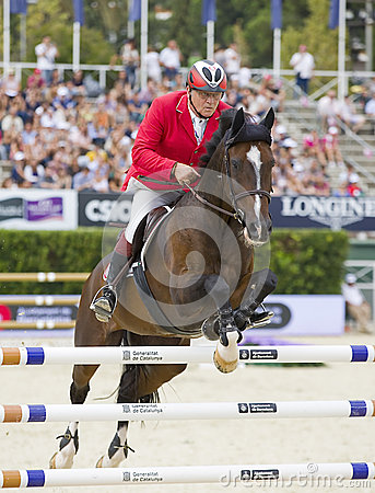 Horse jumping - Thomas Fruhmann Editorial Stock Photo