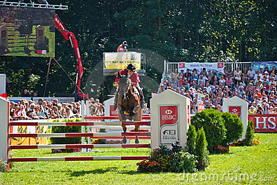 Horse jumping tournament Editorial Image