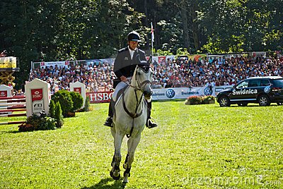 Horse jumping tournament Editorial Photography