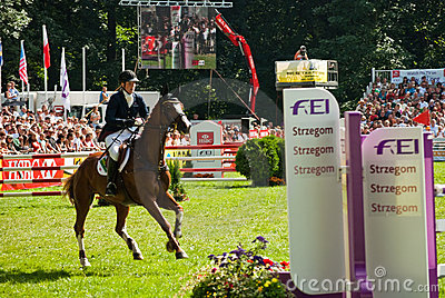 Horse jumping tournament Editorial Stock Image