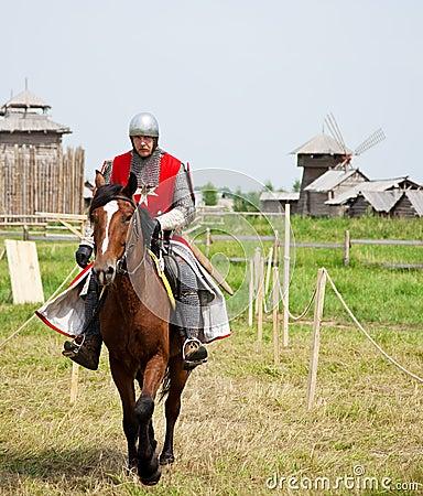 Horse knight Editorial Photo