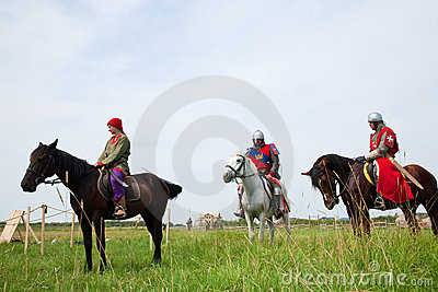 Horse knights Editorial Stock Photo