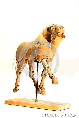 Horse mannequin trot