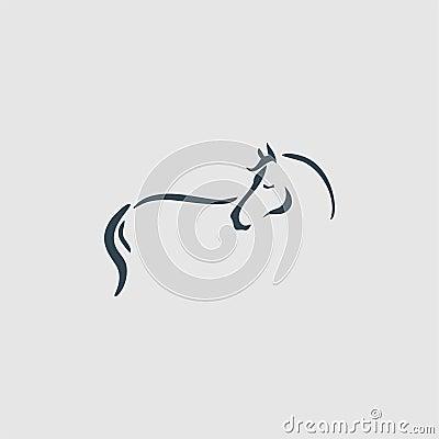 Free Horse Monogram Logo Inspiration Royalty Free Stock Images - 124670019