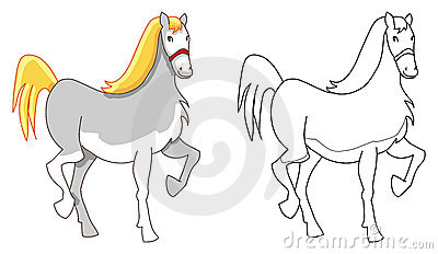 Horse pony outline
