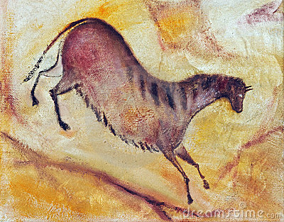 Horse in prehistoric style