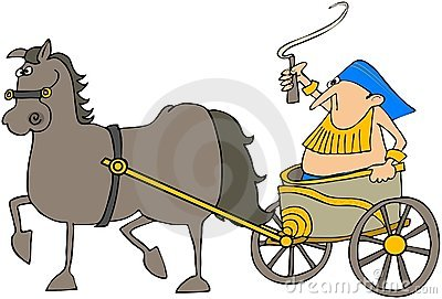 Horse Pulling A Chariot