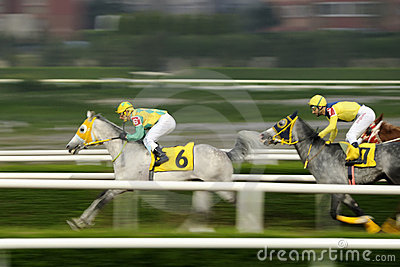 HORSE RACE FINISH Editorial Stock Image