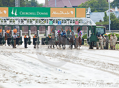 Horse race start Editorial Photography