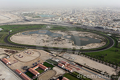 Horse Race Track in Dubai