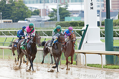 Horse races at Churchill Downs Editorial Photography