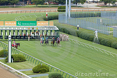 Horse races at Churchill Downs Editorial Image