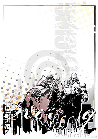 Horse racing background 1