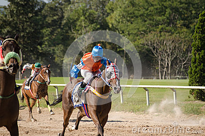 Horse Racing, Chiang Mai, Thailand Editorial Stock Photo