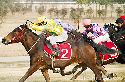 Horse racing in China Editorial Photo