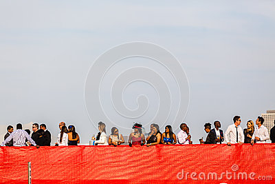 Horse Racing Stands Red Public Editorial Stock Photo