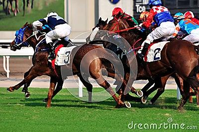 Horse racing game of Hongkong Editorial Stock Photo
