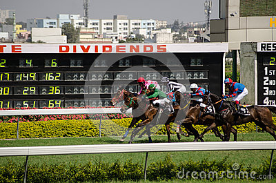 Horse racing in Hyderabad Editorial Stock Image