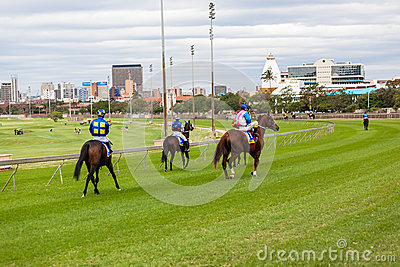 Horse Racing Jockeys Golf Course Editorial Stock Image