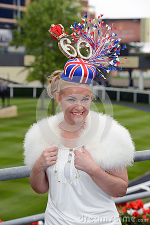 Horse Racing,Ladies day at Ascot Editorial Stock Photo