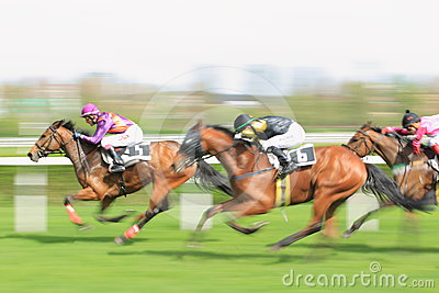 Horse racing in Prague - Chasinta and Mister Della Editorial Photography