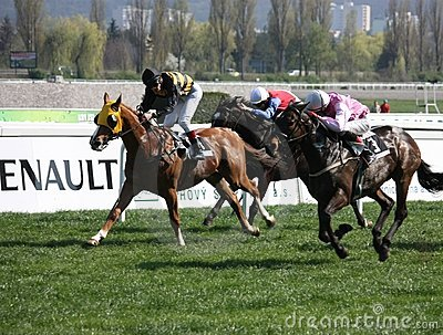 Horse racing in Prague, Chuchle Editorial Photography