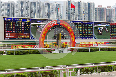 Horse Racing Season Begins in Hong Kong Editorial Image