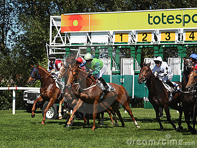 Horse racing start Editorial Stock Photo