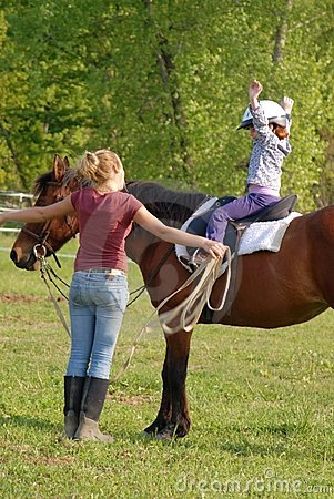Free Horse Rider And Instructor Royalty Free Stock Photography - 2483787