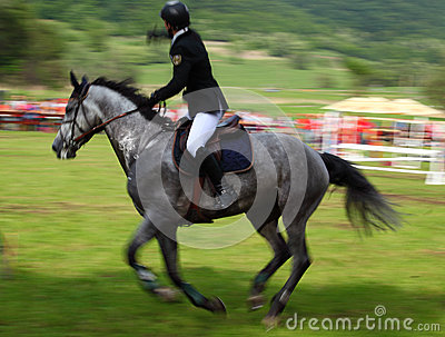 Horse rider panning Editorial Photography