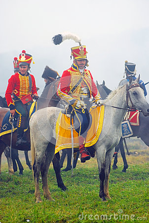 Horse riders at Borodino