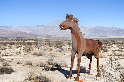 Horse sculpture in Galleta Meadows