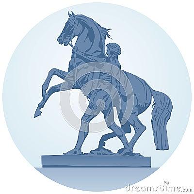 Horse sculpture from st. Petersburg