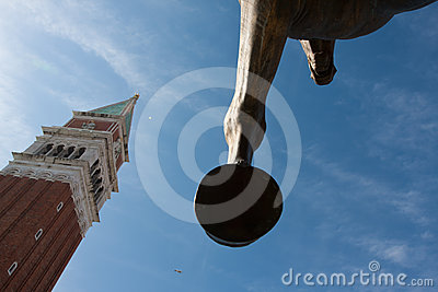 Horse sculpture in Venice Italy