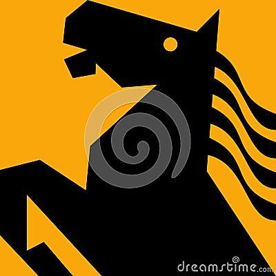 Horse stallion prancing