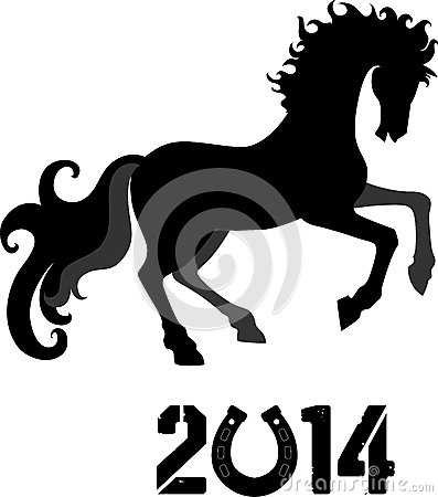 Horse, symbol of 2014 year
