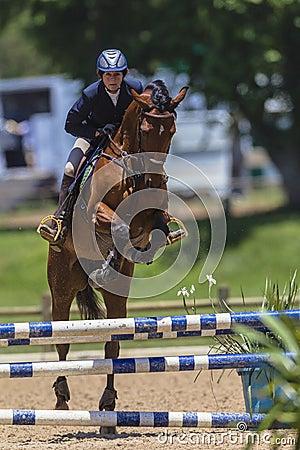 Horse Woman Jump Editorial Photo