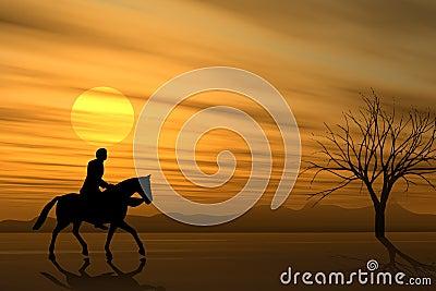 Horseback Ride at Sunset