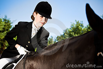 Horseback riding girl