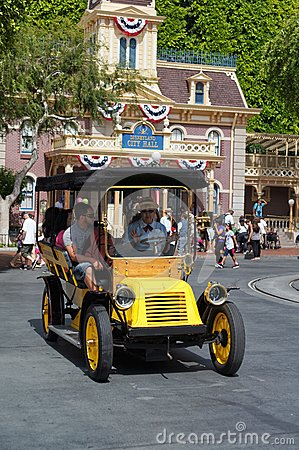 Horseless Carriage Main Street Disneyland Editorial Stock Photo