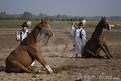 Horsemen, Bugac, Hungary Editorial Stock Photo